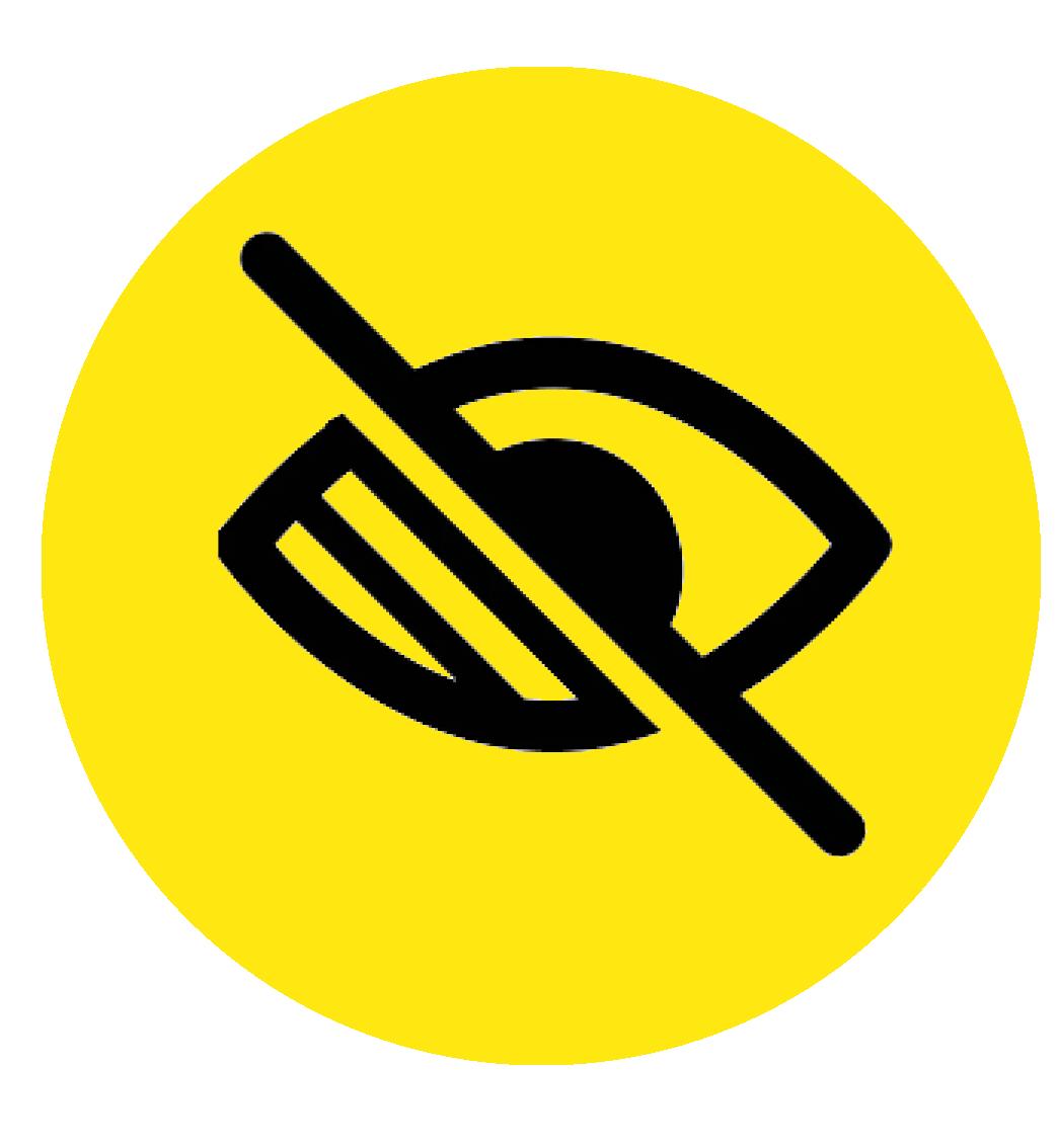 Low vision symbol